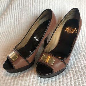 Michael Kors leather heels size 8